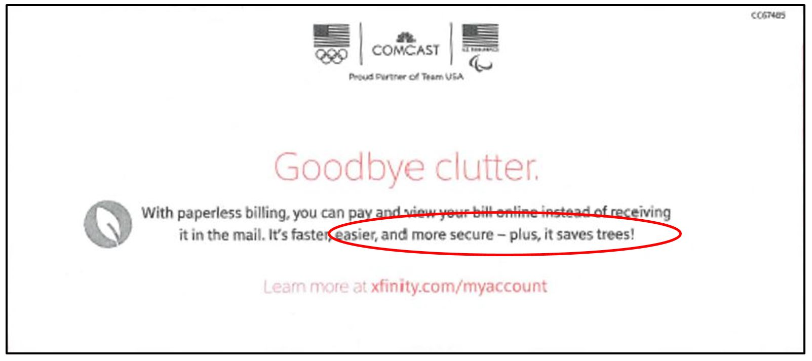 """Comcast's """"EcoBill"""" is all about saving money, not trees"""